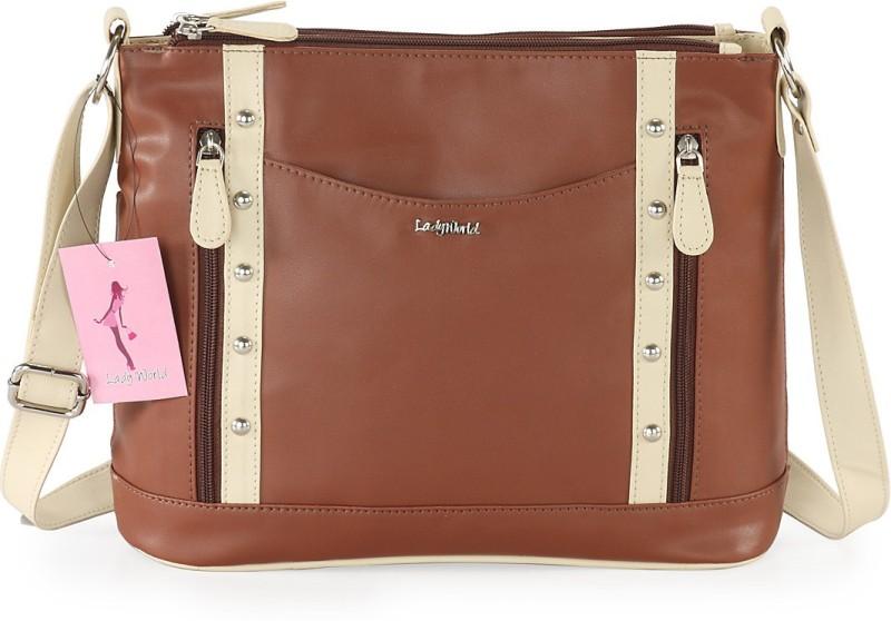Lady World Brown Sling Bag