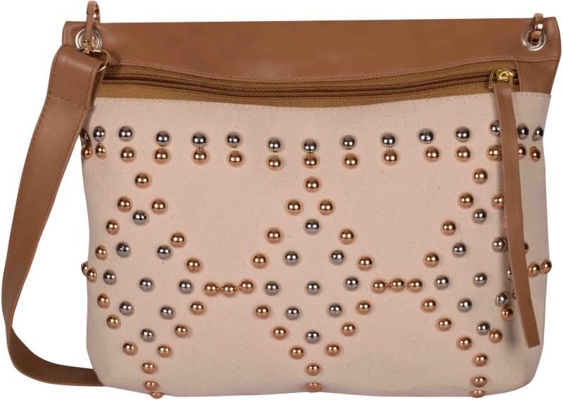 Kanvas Katha Women Pink Canvas Sling Bag