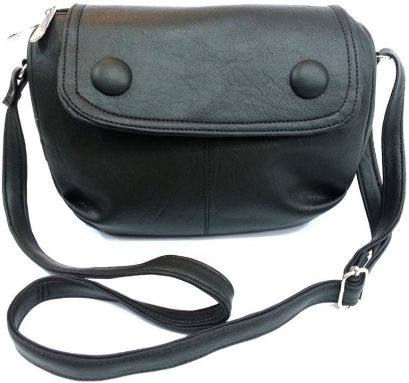 Leather Land Black Sling Bag