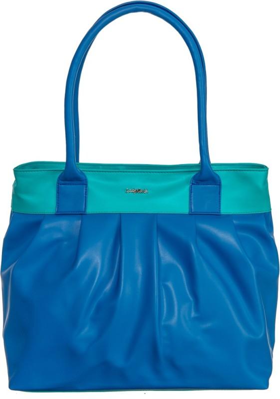 Goodwill Leather Art Women Green, Blue Shoulder Bag