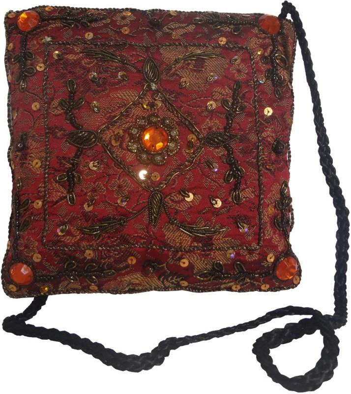Avinash Handicrafts Maroon Sling Bag