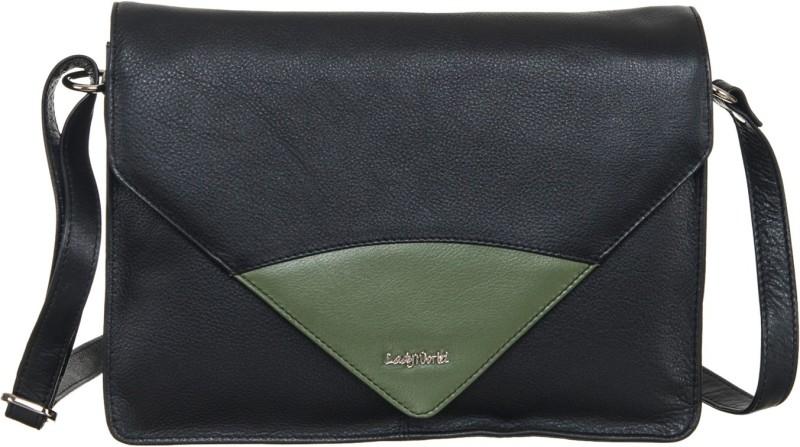 Goodwill Leather Art Black Sling Bag