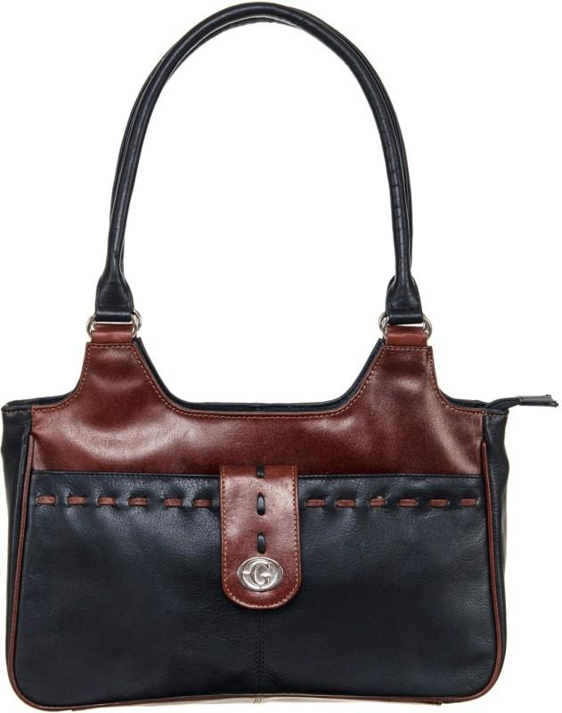 Goodwill Leather Art Women Brown, Black Shoulder Bag