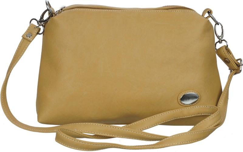 Leather Land Beige Sling Bag