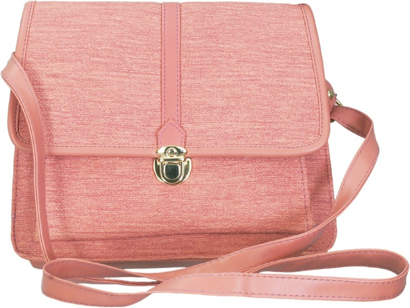 Leather Land Pink Sling Bag