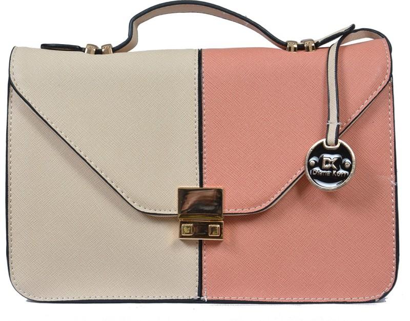 Diana Korr Pink, Beige Sling Bag