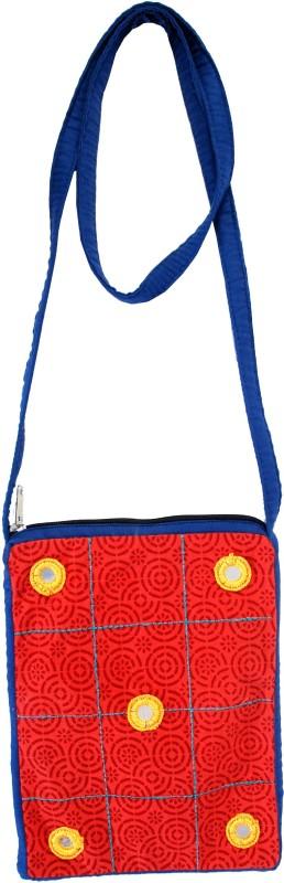 Viniyog Red, Blue Sling Bag