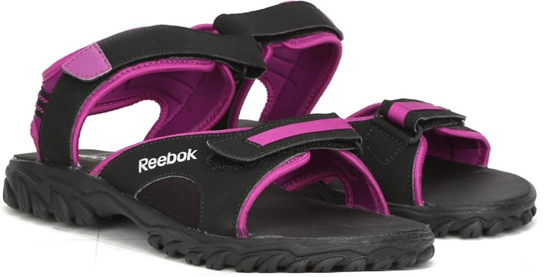 Reebok Women BLKAUBERGINESTEEL Sandals