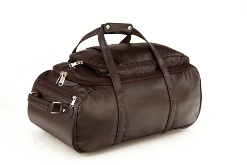 Mboss Multi Use Faux leather Unisex Brown Small Travel Bag - Medium(Brown)