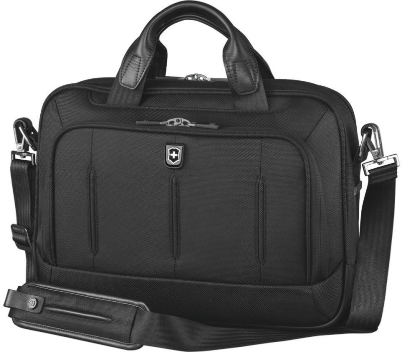 Victorinox VX One Laptop Folio 13 Brief With Tablet / eReader Pocket Small Travel Bag(Black)