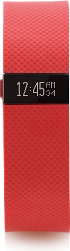 Fitbit Charge HR(Orange Strap, Size : Large)