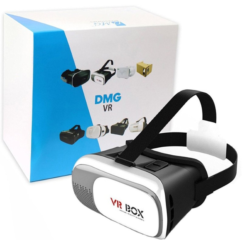 DMG VR Box 2nd Generation Enhanced Version Virtual Augmented Reality HeadSet 3D Video Glasses(Smart Glasses)
