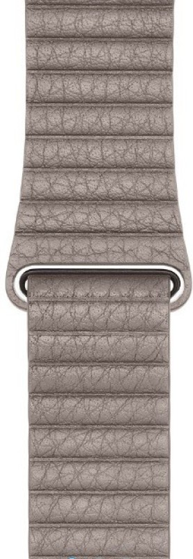 EWOKIt iWatch 42mm Khakee Quilted Venezia leather Smart Watch Strap(Grey)