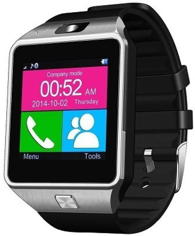ShopAis T30 Silver Bluetooth Smartwatch(Multicolor Strap Regular)