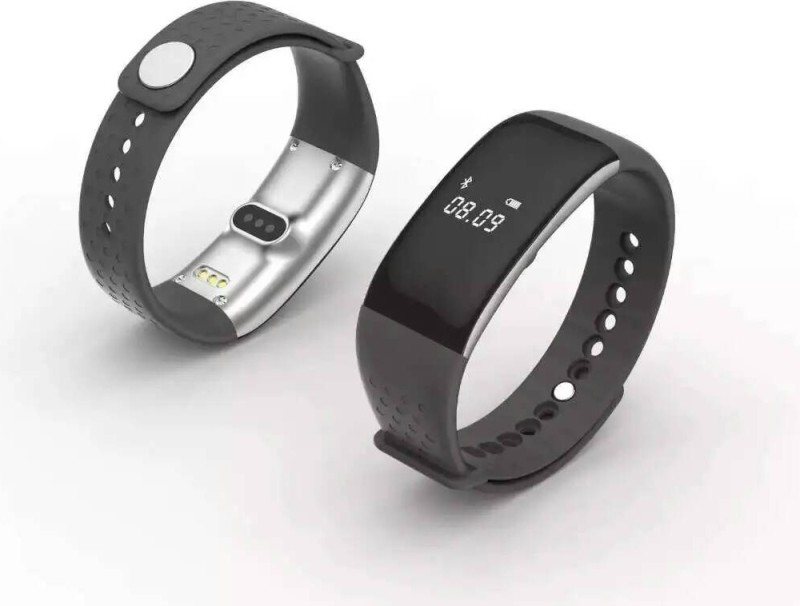 FLIPFIT PD43 Fitness Black Smartwatch(Black Strap Regular)