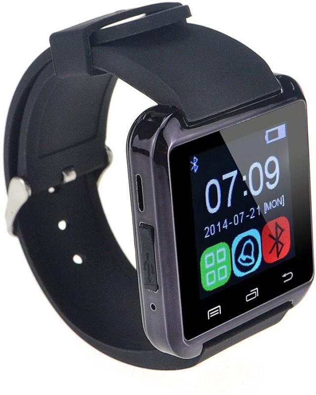 Influx U-8 Glamour phone Black Smartwatch(Black Strap Regular)