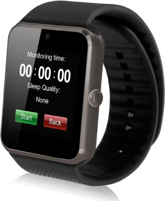 Speed GT 08 phone Black, Gold Smartwatch(Black Strap Regular)