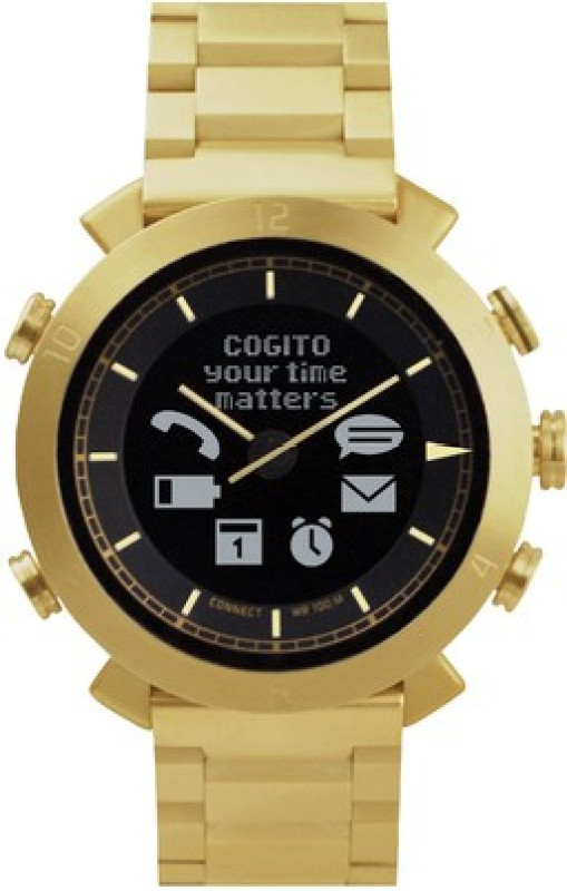 COGITO **** Gold Metal Smartwatch(Multicolor Strap Regular)
