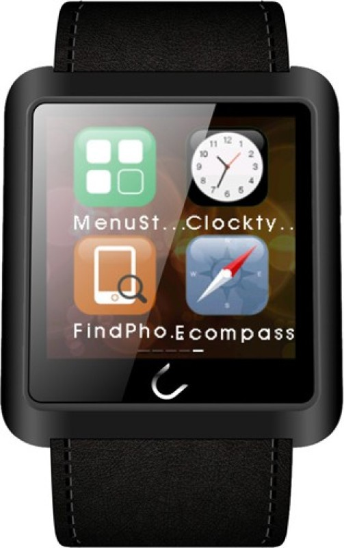 U Watch U10L Black Smartwatch(Black Strap Regular)