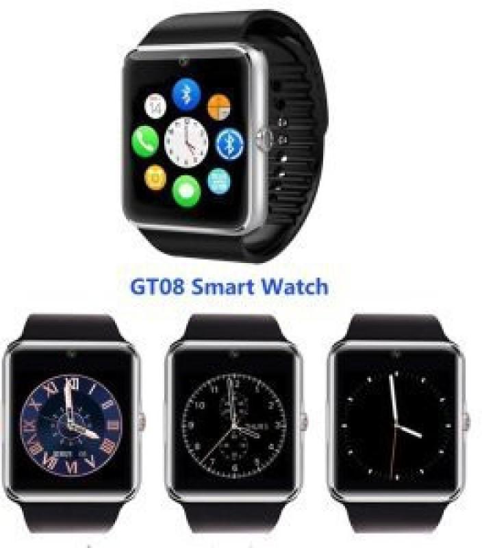 VCS GT08-C Silver Smartwatch(Black Strap Medium)