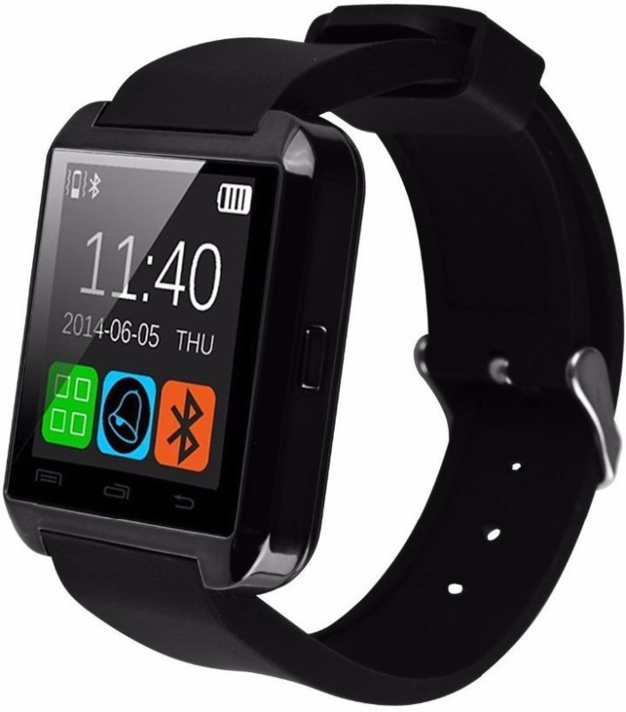 IBS Bluetooth Sport iPhone Android with Inbuilt Sim Slot touch answer Phone Calls Message Pedometer Mp3 Camera Alarm BLACK Smartwatch(Black Strap Regular)