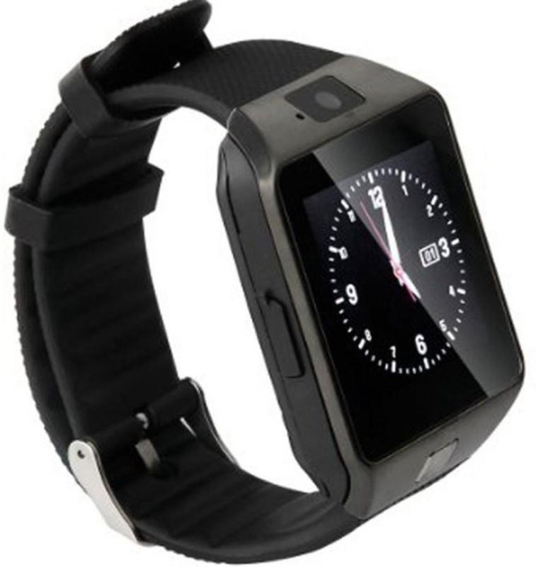 Hari Krishna Enterprise Sim Black Smartwatch(Black Strap Regular)