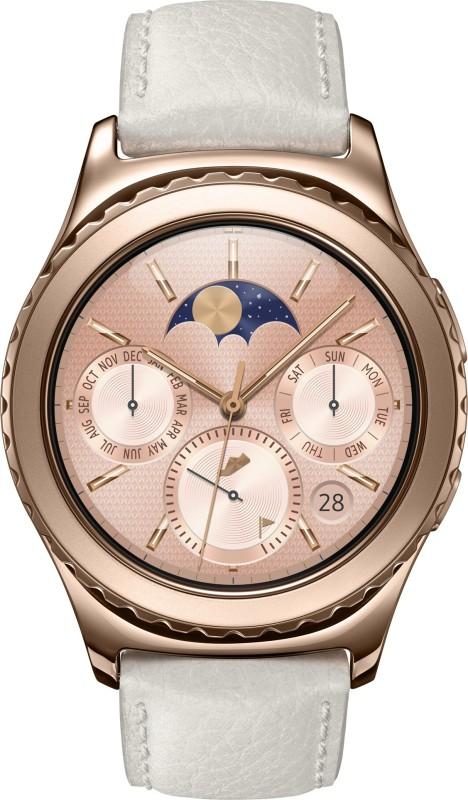 Samsung Gear S2 Classic Rose Gold Smartwatch(White Strap Regular)