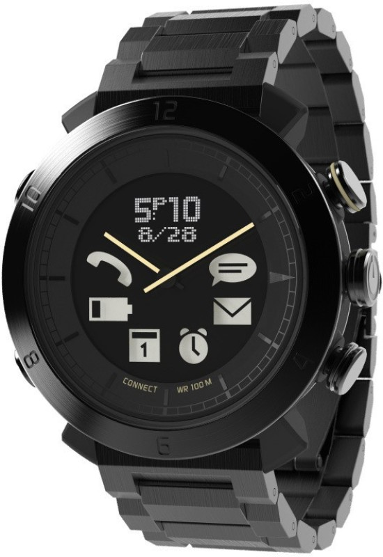 COGITO Classic Black Metal Smartwatch(Black Strap Regular)