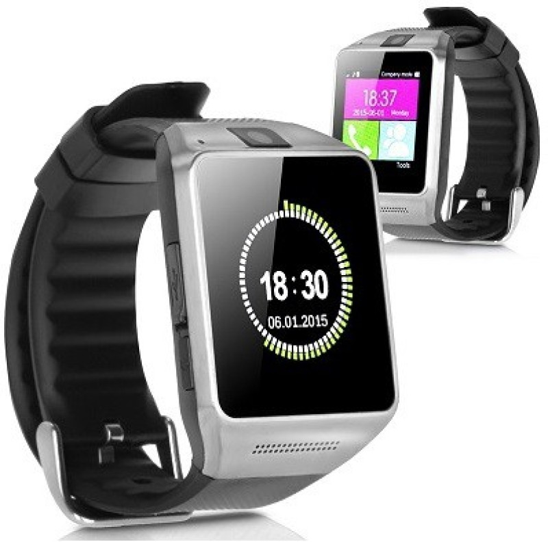 Attire Stylish Smartwatch(Black Strap Regular)