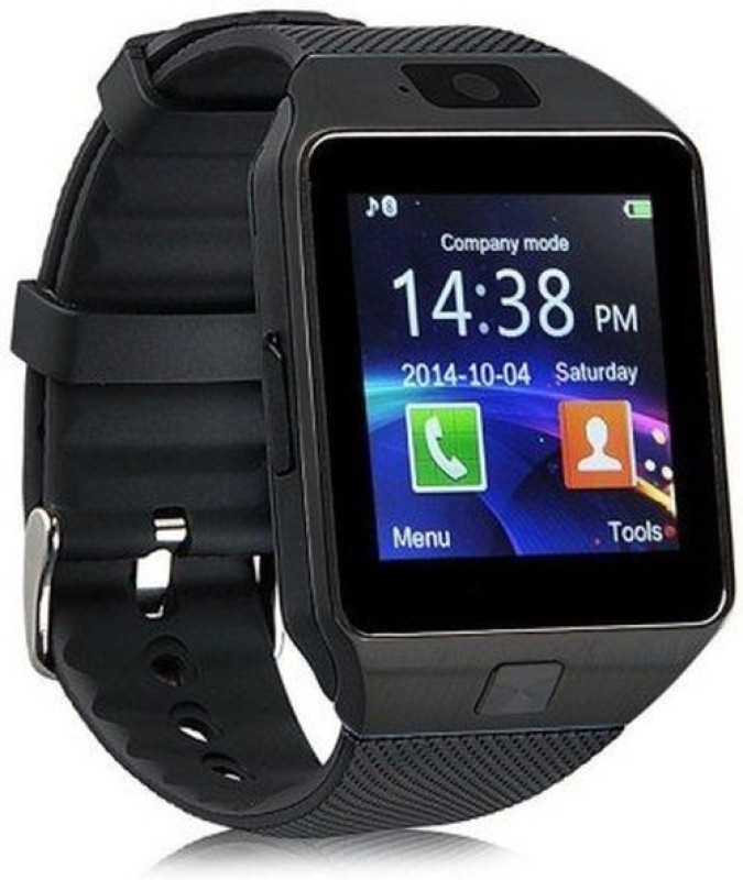 Maya Dz09 with Calling Black Smartwatch(Black Strap Regular)