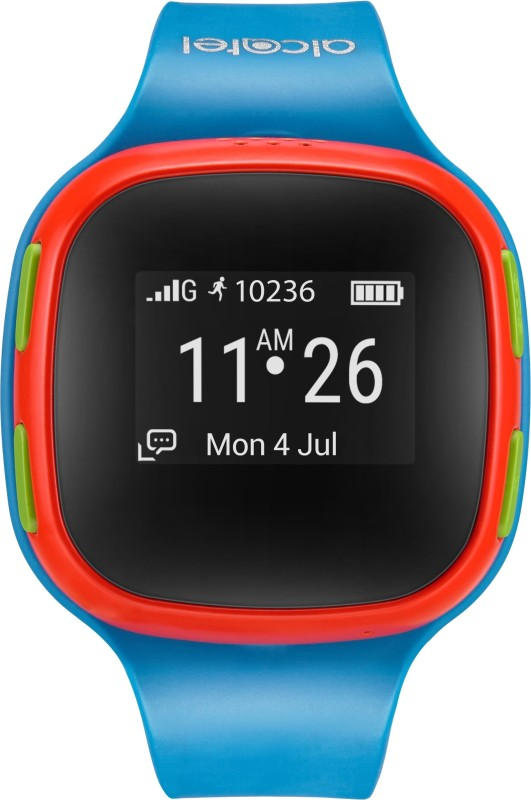 Alcatel Kids Watchphone with Location Tracking Smartwatch(Blue Strap Small)