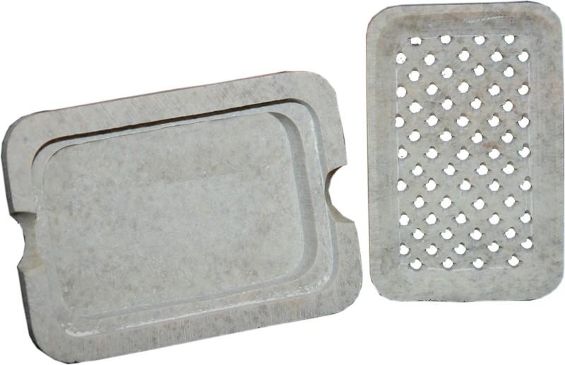 Mne Genuine Marble Soap Box(Beige, Grey)