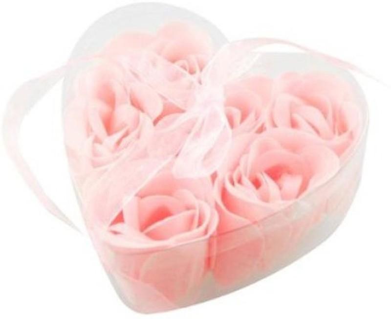Futaba Heart Shape Romantic Bath Rose petals Light Pink(Pink)