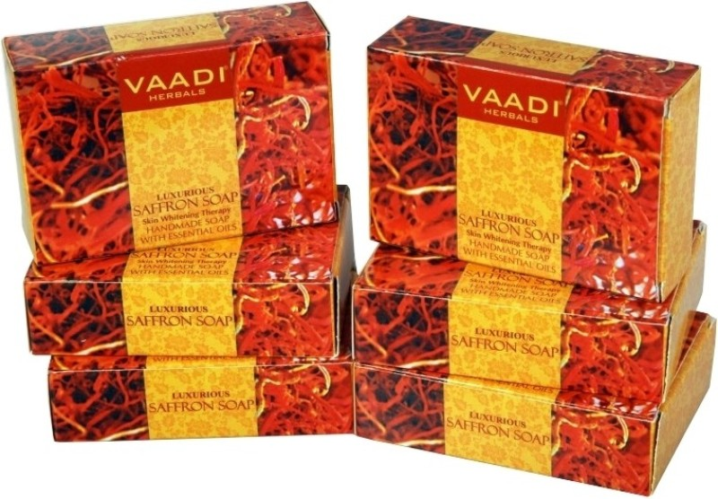 Vaadi Herbals Luxurious Saffron Soap - Skin Whitening Therapy -...