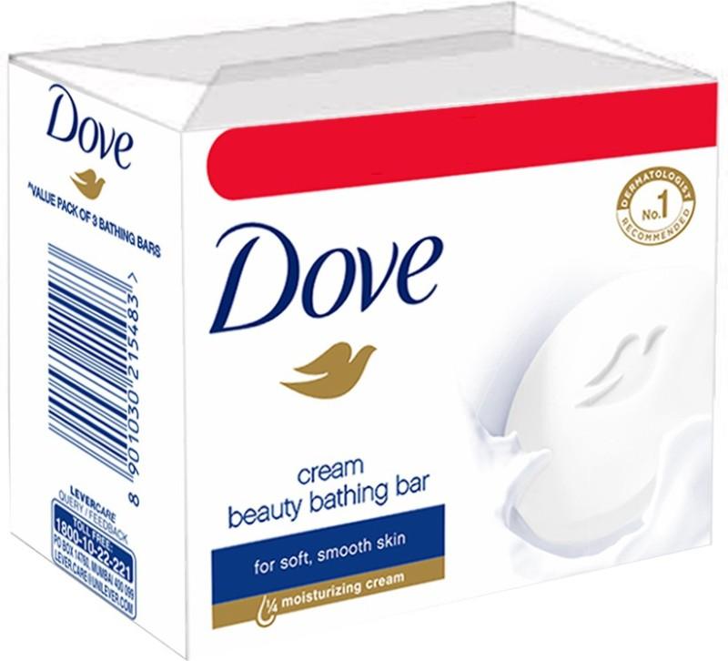 Dove Cream Beauty Bathing Bar(300 g, Pack of 3)