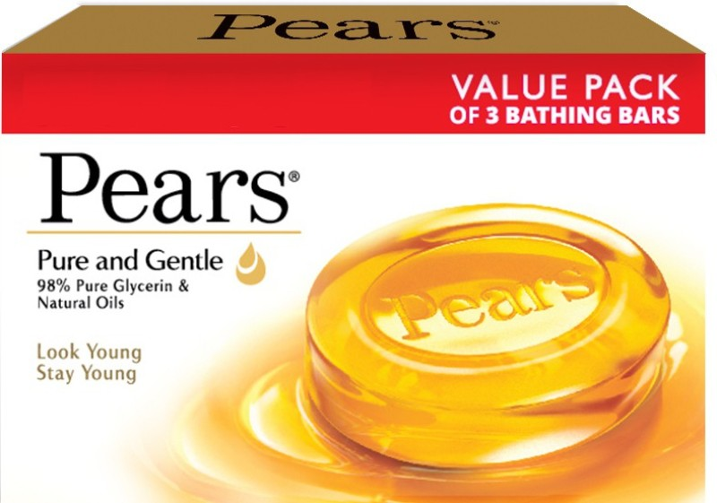 Pears Pure & Gentle Bathing Bar(225 g, Pack of 3)