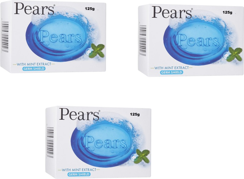 Pears Germs Shield With Mint Extract Soap ( Pack of 3 )(125 g, Pack of 3)