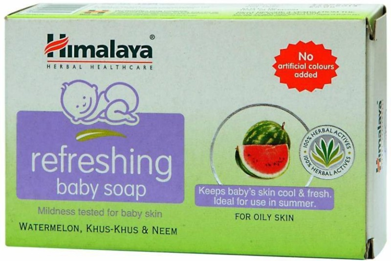 Himalaya Refreshing Baby Soap 125 Gm - Pack of 10 (125 g)(125 g)