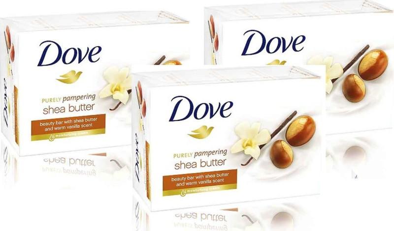 Dove Shea Butter Cream Beauty Bathing Bar (135g - pack of 3) Shea Butter(405 g, Pack of 3)