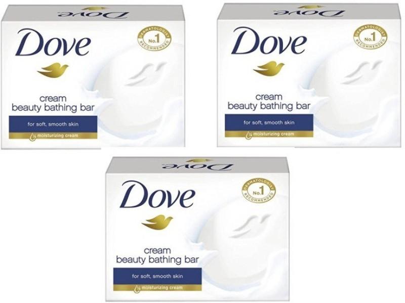 Dove Beauty Cream Bar(225 g, Pack of 3)