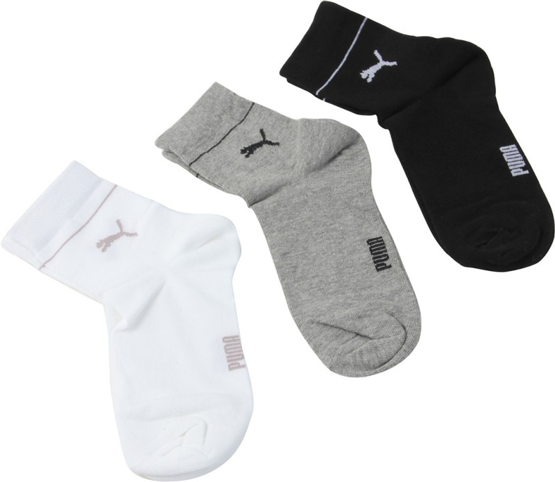 Puma Women's Solid Crew Length Socks(Pack of 3)