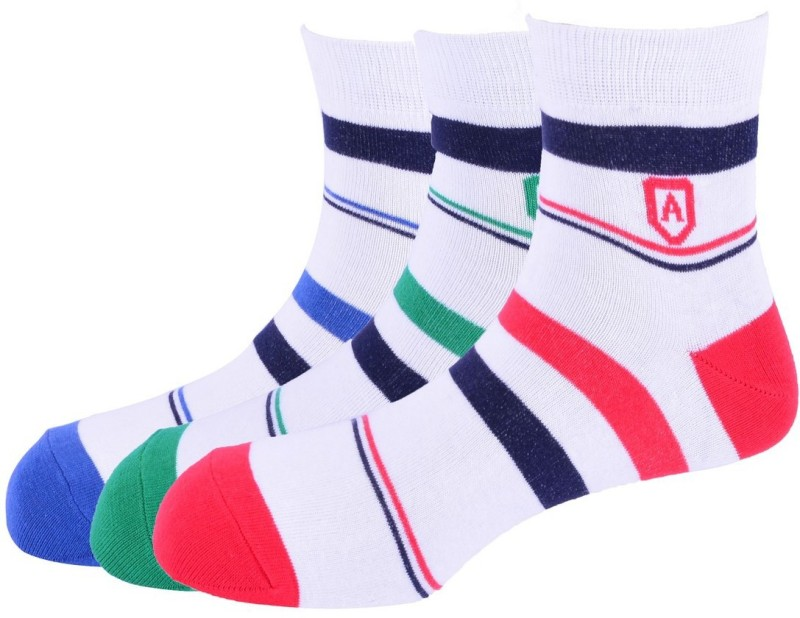 Arrow Mens Striped Ankle Length Socks