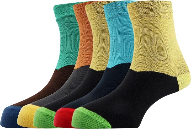 Calzini Mens Geometric Print Ankle Length Socks
