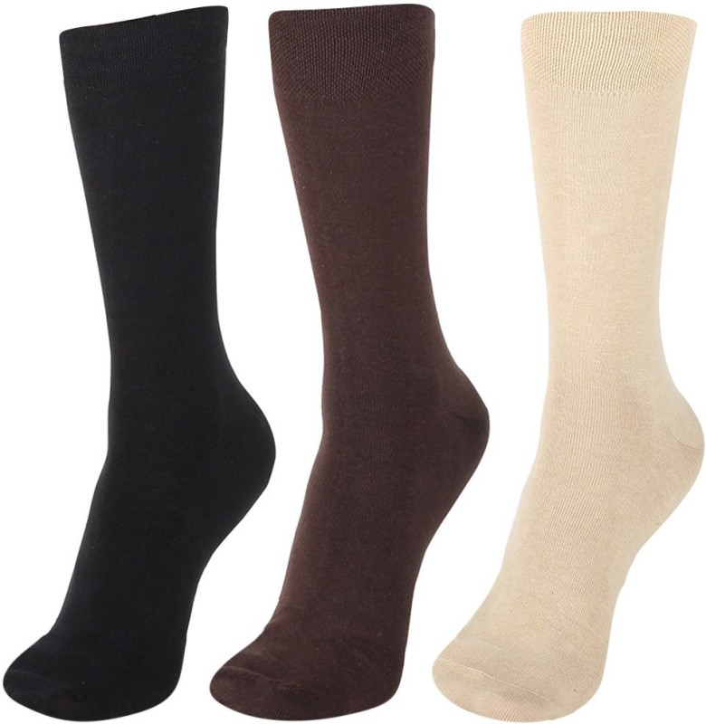 Calzini Mens Solid Mid-calf Length Socks