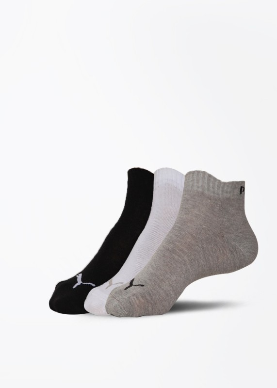 Puma Sport Mens Solid Quarter Length Socks(Pack of 3)