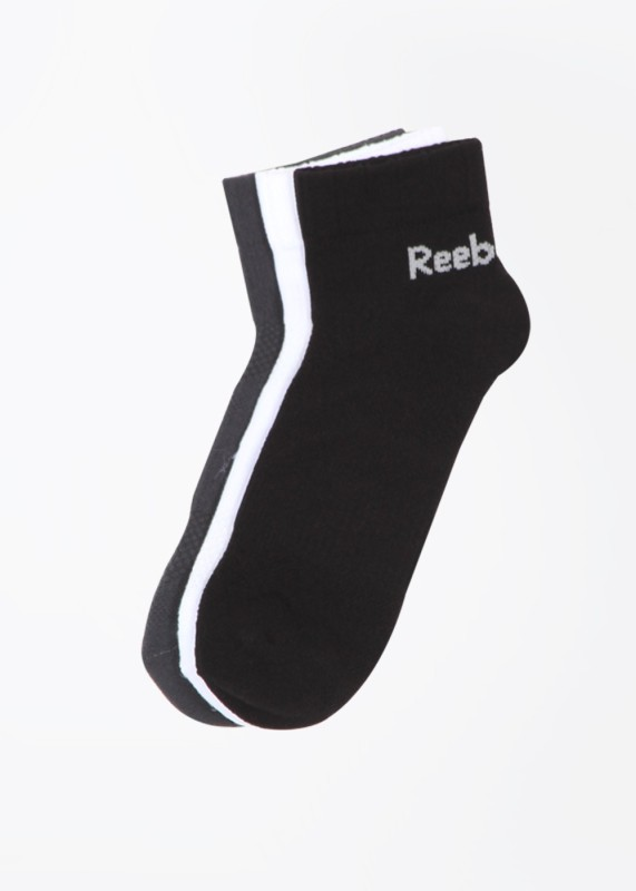 Reebok Mens Solid Ankle Length Socks(Pack of 3)