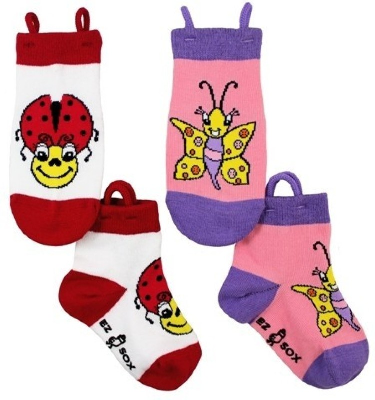 NeedyBee Girls Animal Print Quarter Length Socks(Pack of 4)