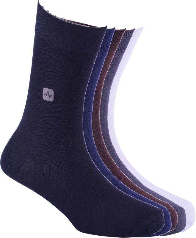 Arrow Mens Solid Crew Length Socks(Pack of 5)