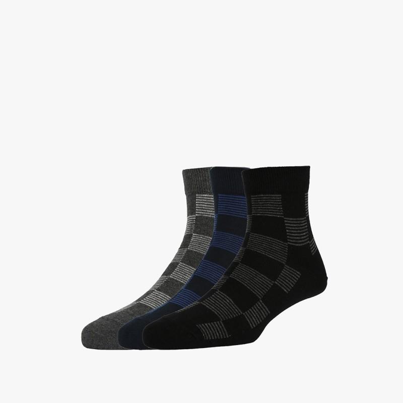 Van Heusen Mens Printed Quarter Length Socks