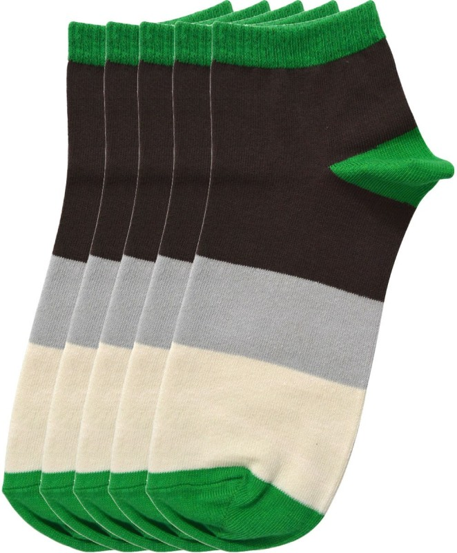 Tossido Mens Striped Ankle Length(Pack of 5)